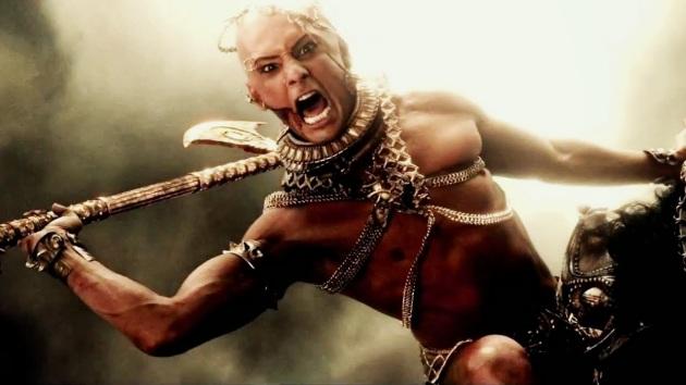 Xerxes decapitando el potencial de esta película.
